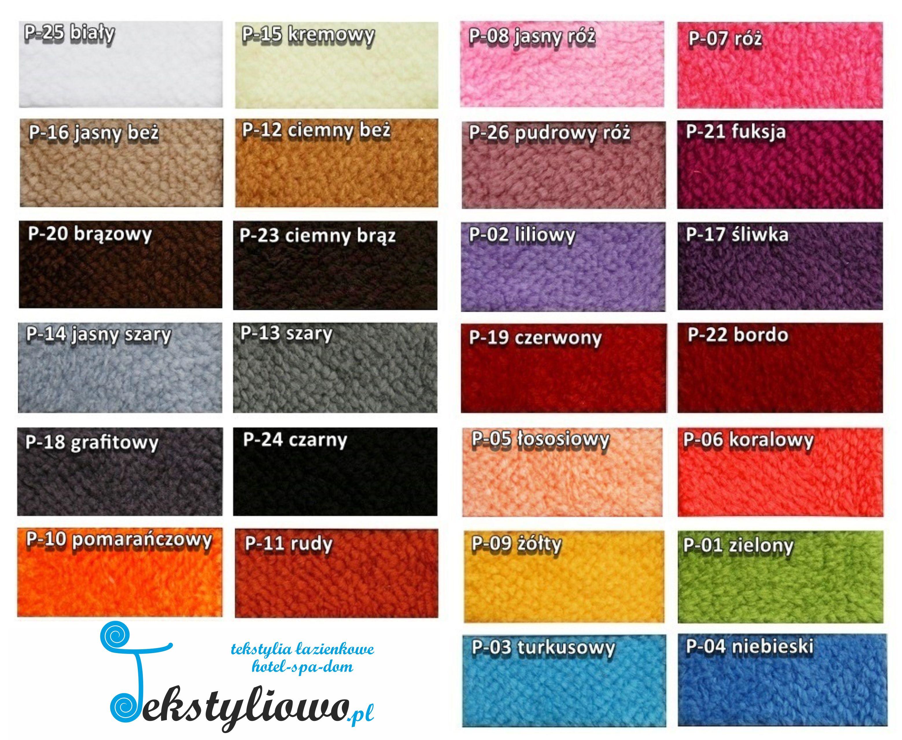 Kolory dywaników